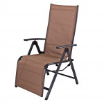 "Chaise longue ""Corona"" en aluminium - Gris/Beige"