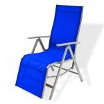 Chaise longue ``Corona´´ en aluminium / bleu