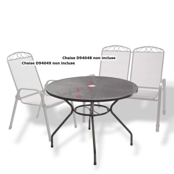 """Table ronde en métal maillé """"Los Angeles"""" ø 100 cm"""
