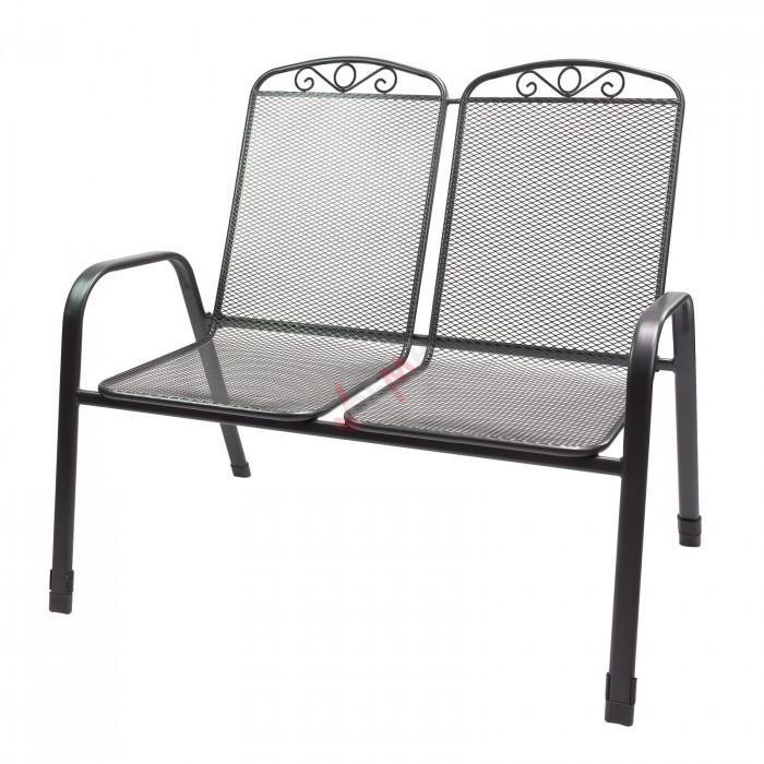 """Chaise double de jardin en métal maillé """"Virginia"""""""