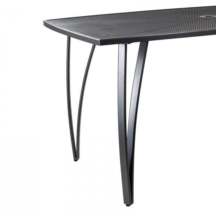 """Table de jardin en métal maillé """"Vancouver"""" 1500 x 900 x 720 mm"""