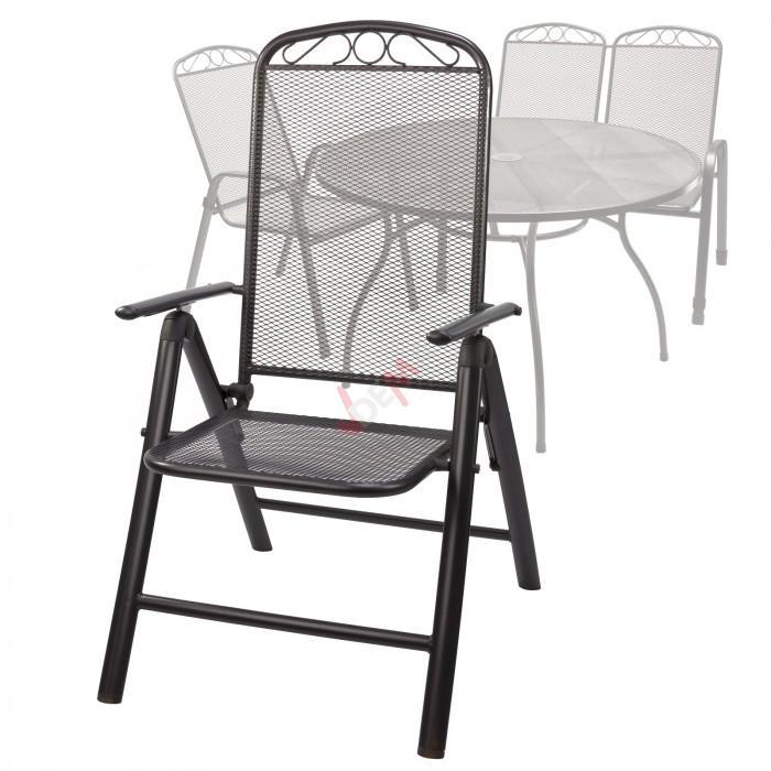 """Chaise de jardin en métal maillé avec dossier inclinable """"Chicago"""""""