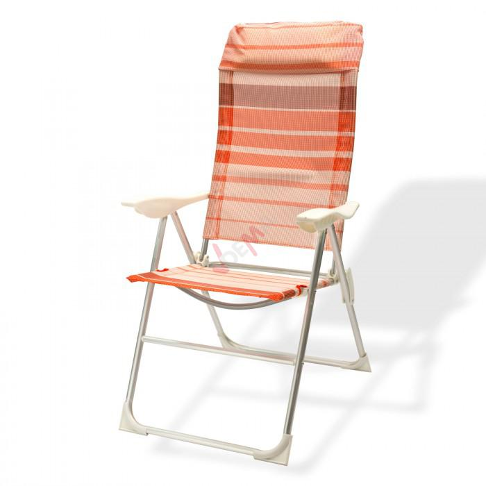 chaise de jardin en aluminium baltimore ray orange. Black Bedroom Furniture Sets. Home Design Ideas