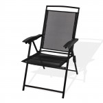 """Chaise pliante """"Long Beach"""" de couleur noire"""