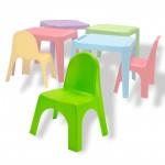 Chaise pour enfants en PVC empilable couleur verte