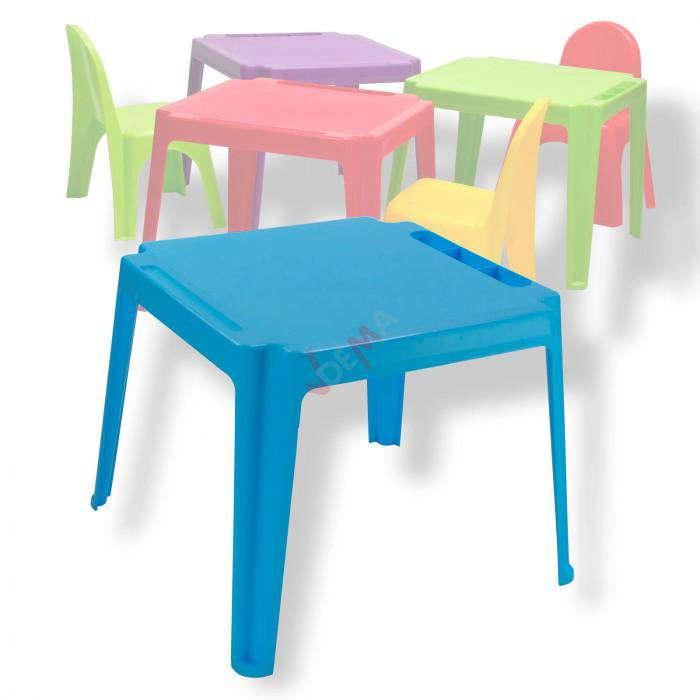 table pour enfants en pvc empilable couleur bleue plein air camping. Black Bedroom Furniture Sets. Home Design Ideas