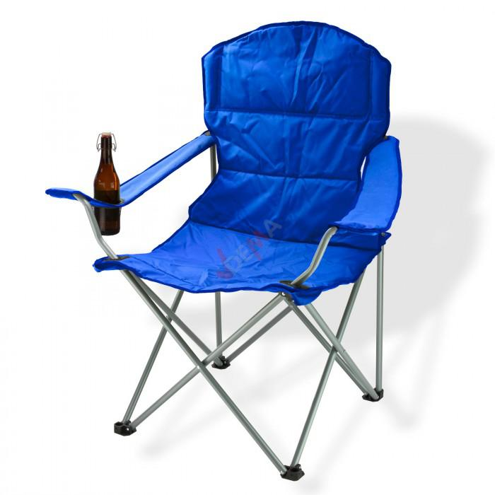 chaise pliante avec porte boissons couleur bleue plein air camping. Black Bedroom Furniture Sets. Home Design Ideas