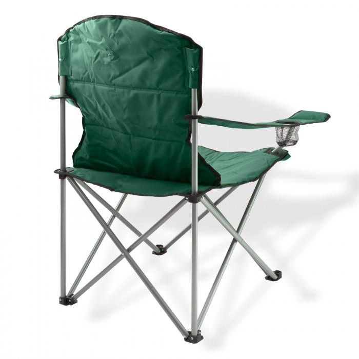 chaise pliante avec porte boissons couleur verte plein air camping. Black Bedroom Furniture Sets. Home Design Ideas