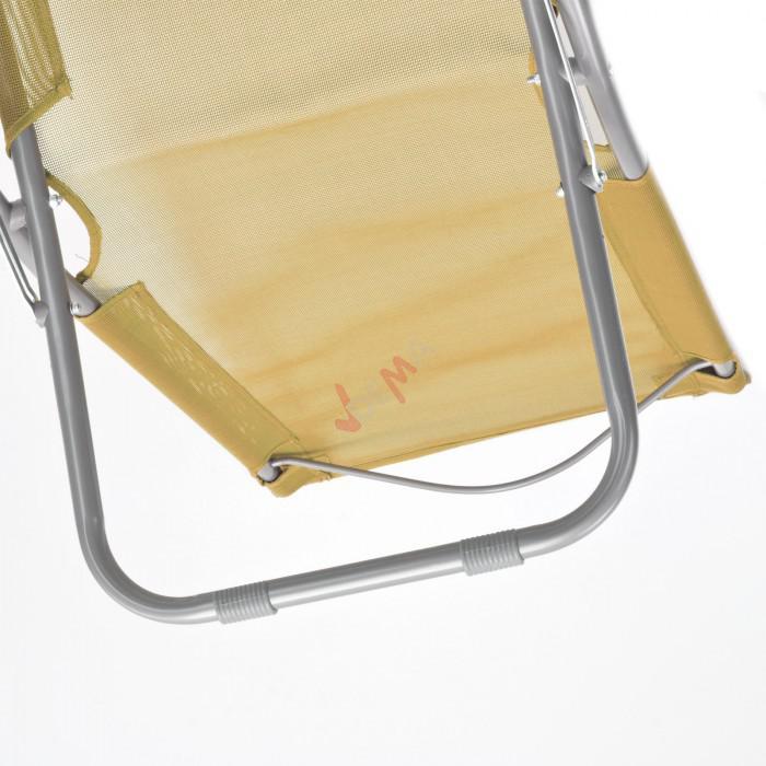 Chaise pliante plage / piscine De couleur beige