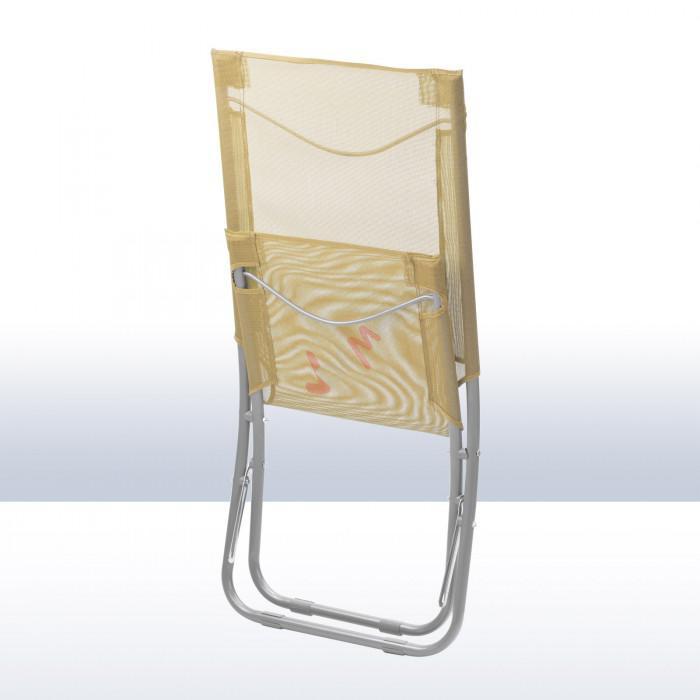 Chaise pliante plage piscine de couleur beige plein - Chaise de piscine ...