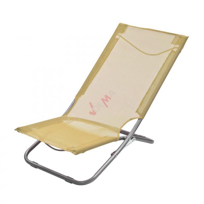 chaise pliante plage piscine de couleur beige d94034. Black Bedroom Furniture Sets. Home Design Ideas