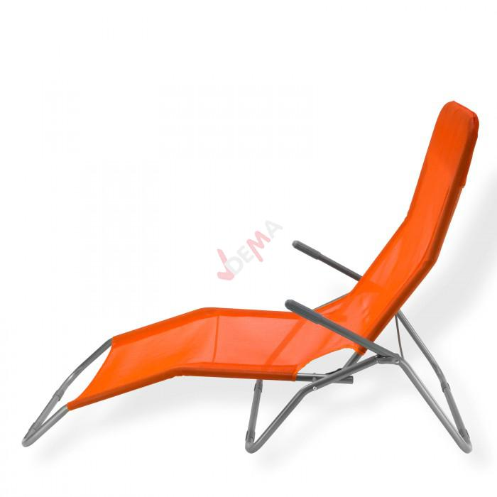 "Chaise longue à bascule ""Virginia Beach"" De couleur orange"