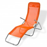 Chaise longue à bascule ``Virginia Beach´´ De couleur orange