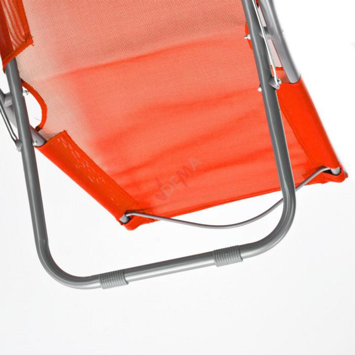 Chaise pliante plage / piscine De couleur orange