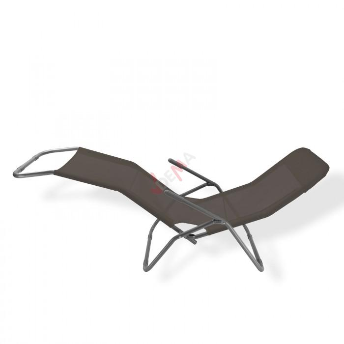"Chaise à bascule ""VIRGINIA BEACH"" couleur anthracite"