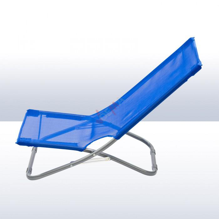 Chaise pliante plage piscine de couleur bleue plein for Chaise longue pliante plage