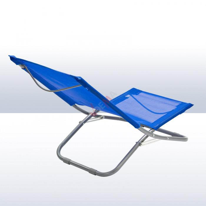 Chaise pliante plage piscine de couleur bleue plein for Chiasse piscine