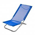 Chaise pliante plage / piscine De couleur bleue