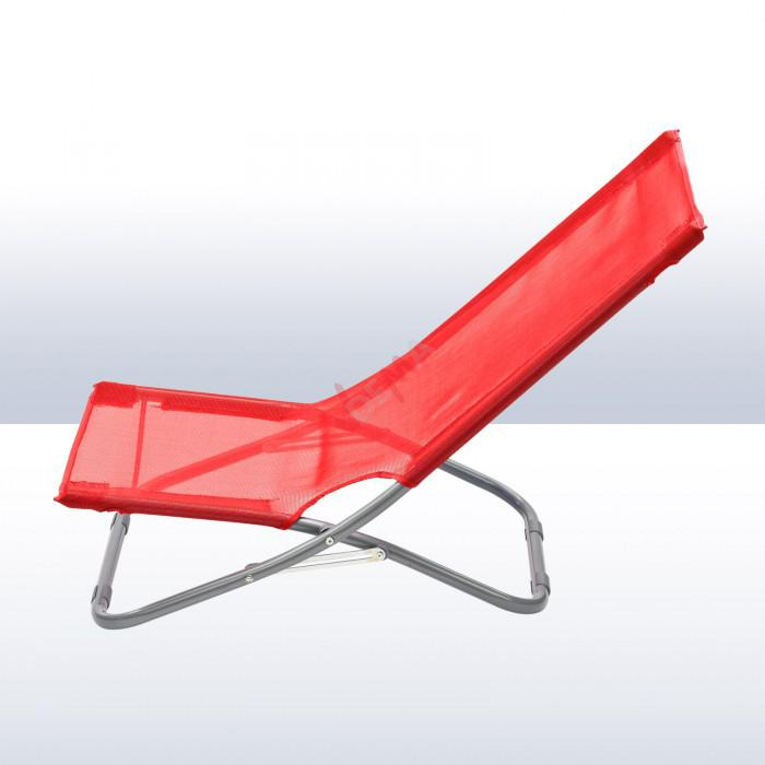 Chaise pliante plage / piscine De couleur rouge