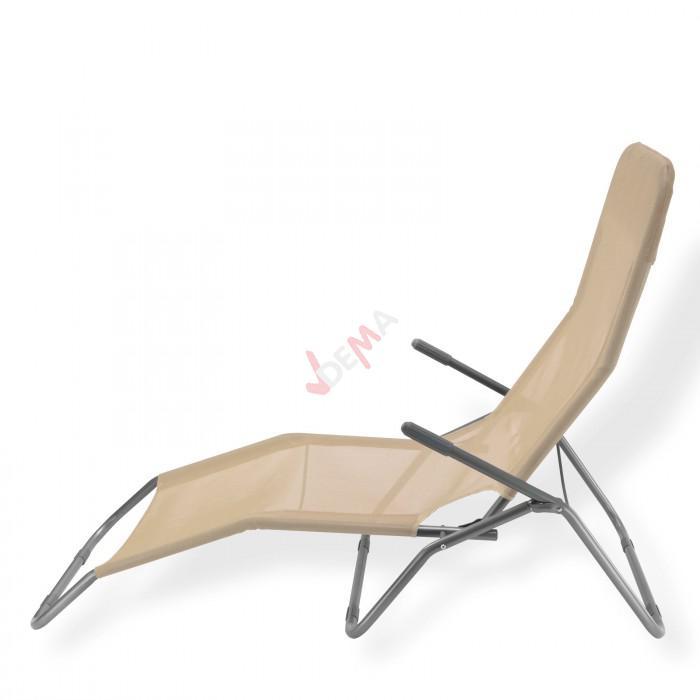 Chaise longue à bascule ``Virginia Beach´´ De couleur beige