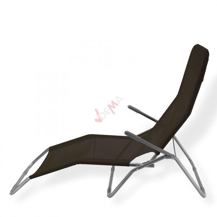Chaise longue bascule virginia beach de couleur noire for Chaise longue de couleur