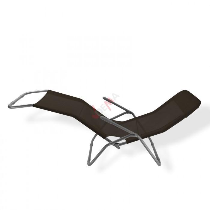 """Chaise longue à bascule """"Virginia Beach"""" De couleur noire"""
