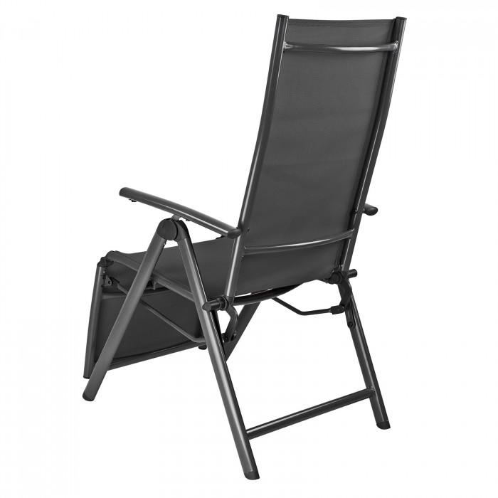 "Chaise longue ""Corona"" en aluminium Noir"