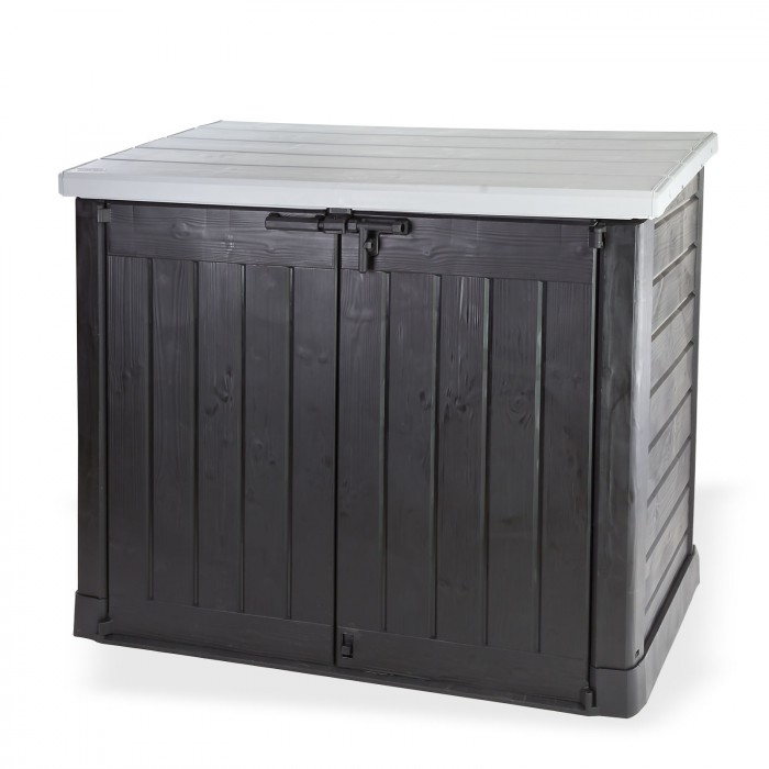 abri rangement de jardin coffre cache poubelle xl 2 x 240 litres d coration ext rieure. Black Bedroom Furniture Sets. Home Design Ideas