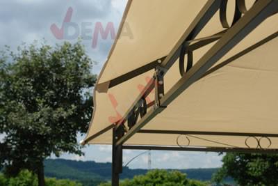 Tonnelle - Pavillon de jardin beige 3 x 4 m