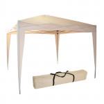 Tonnelle / Pavillon pliable de couleur beige 300 x 300 x 260 cm