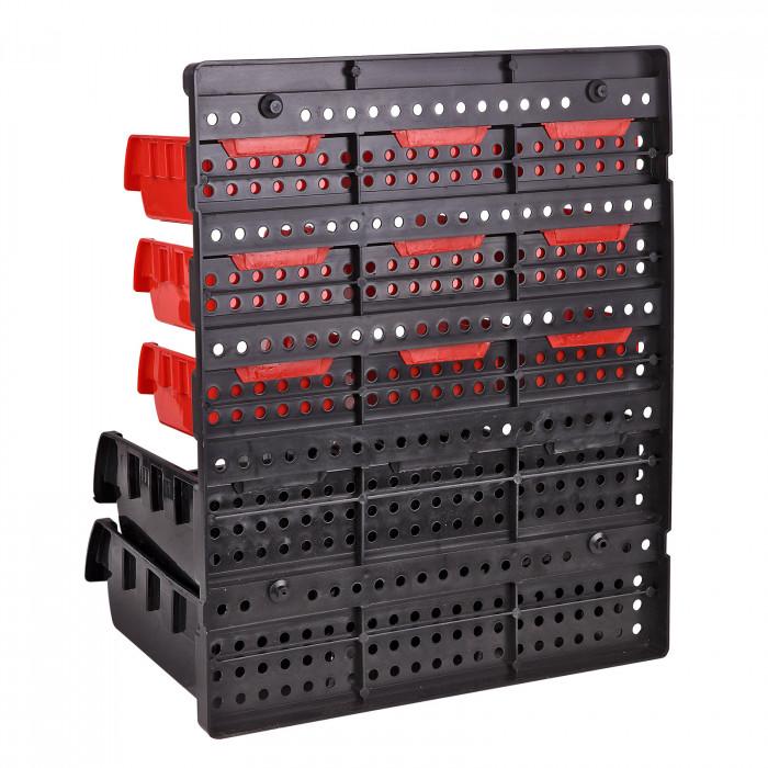 Bacs à bec - Bacs de rangement 30 pièces - avec fixation - KSR30