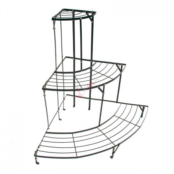 Étagère d'angle pour plantes en métal 3 niveaux