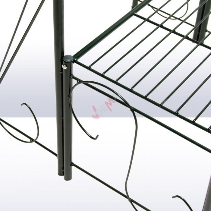 Étagère pour plantes en métal 2 niveaux