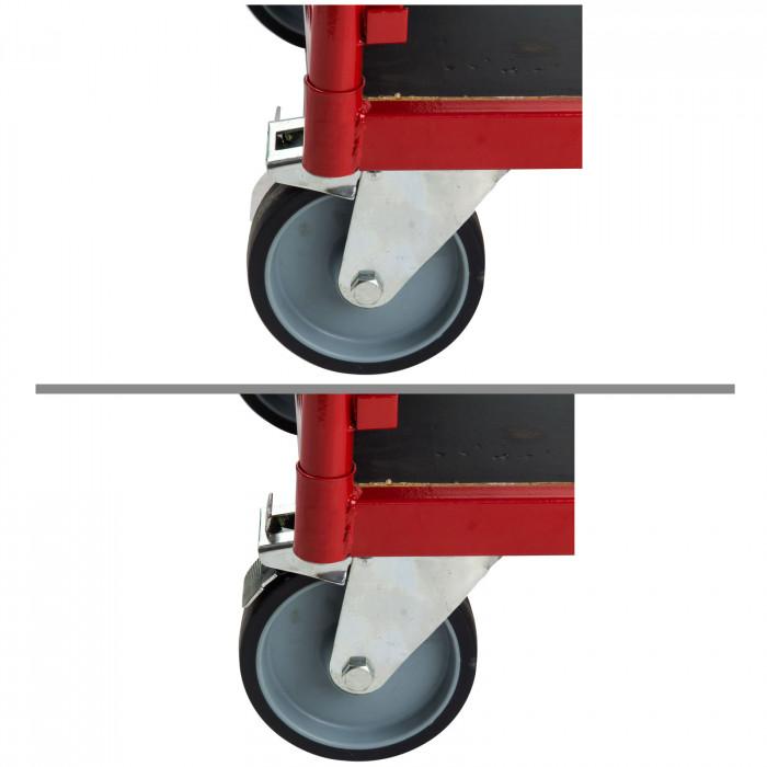 Chariot de transport modulable avec parois grillagées