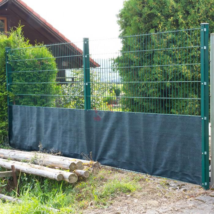 Brise vue pour clôture 1 x 25 m de couleur verte