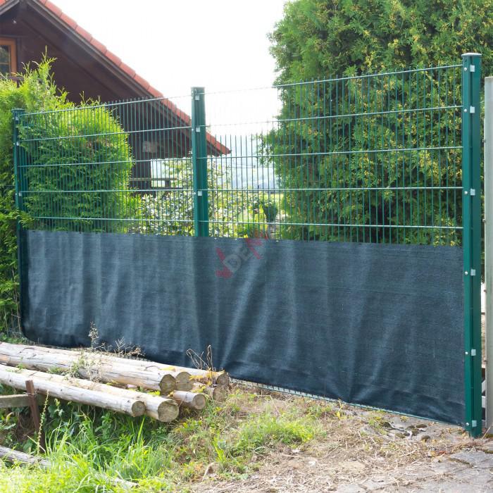 Brise vue pour clôture 1,2 x 25 m de couleur verte