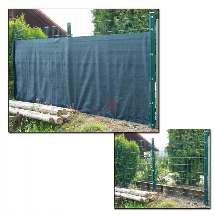 Brise vue pour clôture 1,5 x 25 m de couleur verte