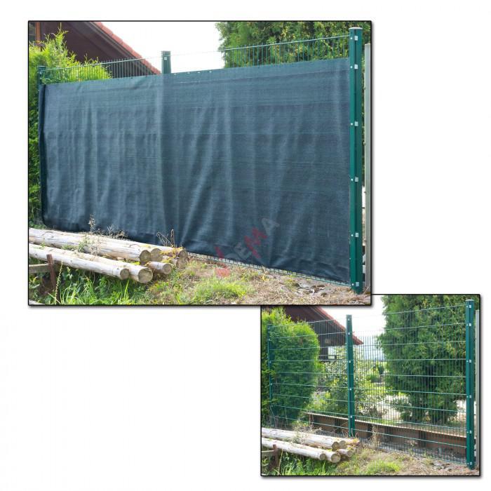 Brise vue pour clôture 1,8 x 25 m de couleur verte