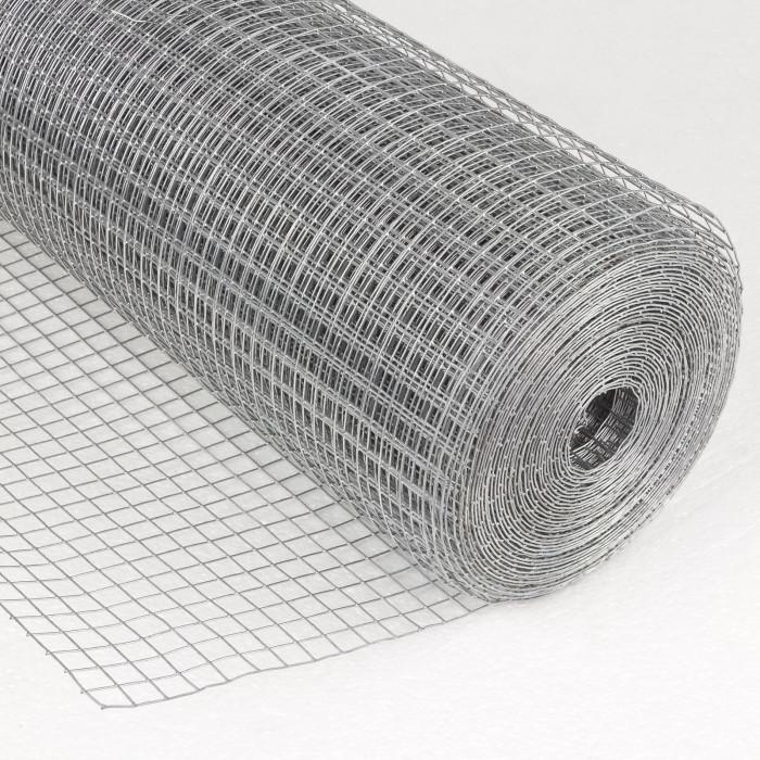 Grillage galvanisé à maille carrée 13 mm 1 x 20 m