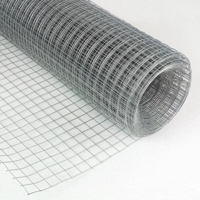 Grillage galvanisé à maille carrée 19 mm 1 x 10 m