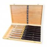 Coffret de 8 ciseaux à bois pour sculpture / tournage / Tour HSS