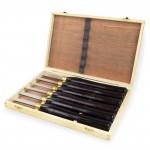 Outils pour tour à bois - set de 6 ciseaux