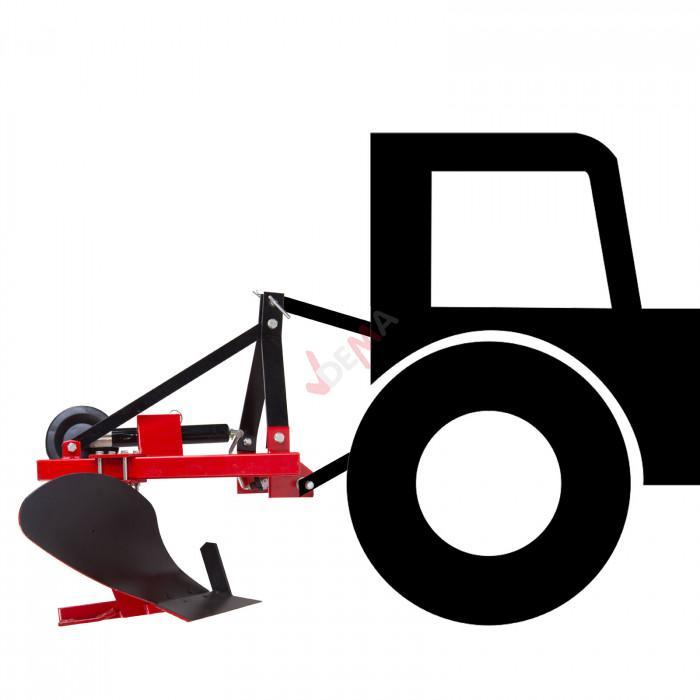 Charrue simple 1 soc pour tracteur - Attelage 3 points Catégorie  I