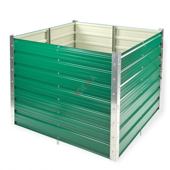 Potager surélevé en métal ``Rosendaal´´ De couleur verte