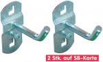 Crochet à 45° pour panneau perforé - lot de 2