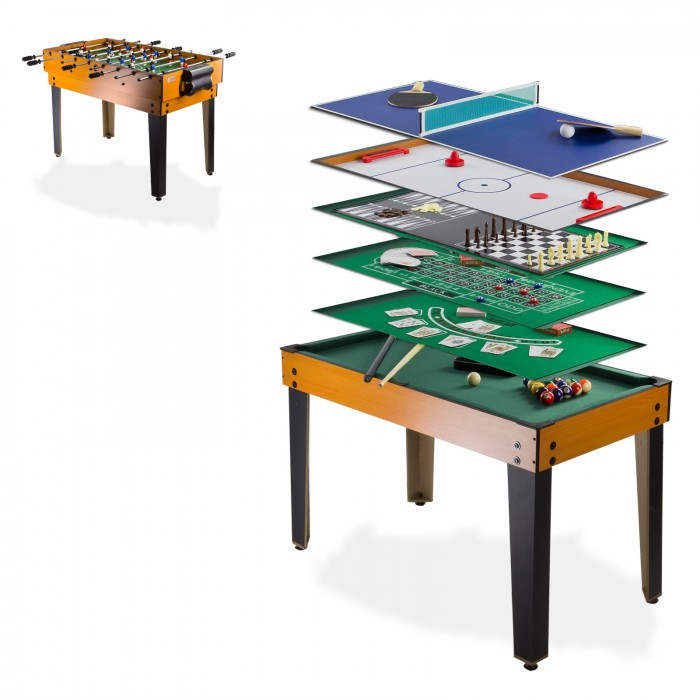 Table multi jeux 13 en 1 baby foot billard tennis table for Table de multi
