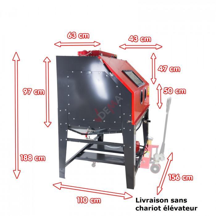 Cabine de sablage / sableuse  XXL - SK 1200