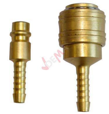 Raccord rapide et raccord cannelé pour tuyau air comprimé diam 9 mm