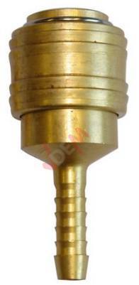 Raccord rapide avec raccord cannelé pour tuyau air comprimé diam 6 mm