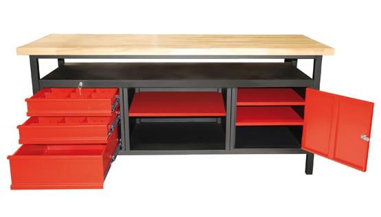 etabli 170 cm 3 tiroirs 1 porte mobilier d 39 atelier. Black Bedroom Furniture Sets. Home Design Ideas